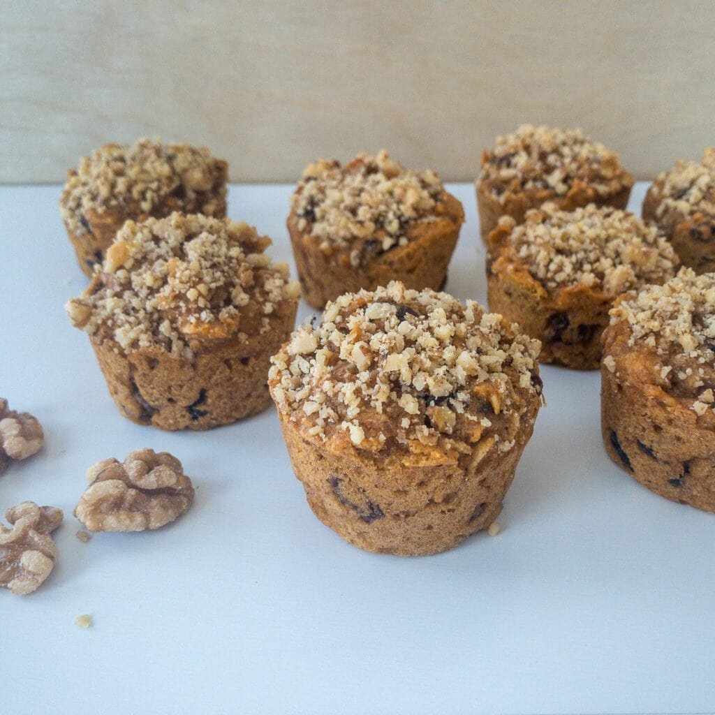 Healthy Sweet Potato Muffins are light, fluffy, and made with nutritious ingredients, including sweet potatoes, whole wheat flour, and oatmeal. Enjoy sweet potato muffins as a healthy breakfast, snack, or dessert.