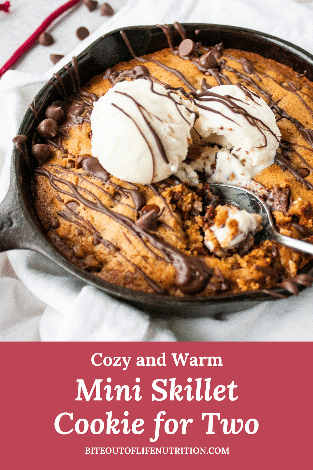 Mini Cookie Skillet Pin for Pinterest