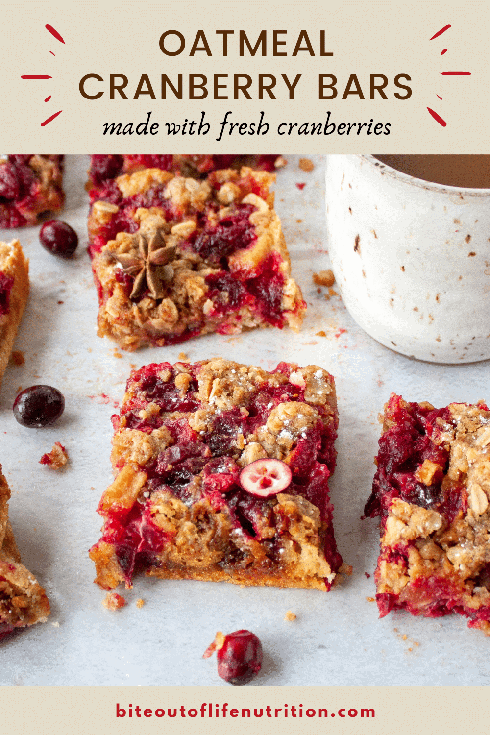 Cranberry bars pin