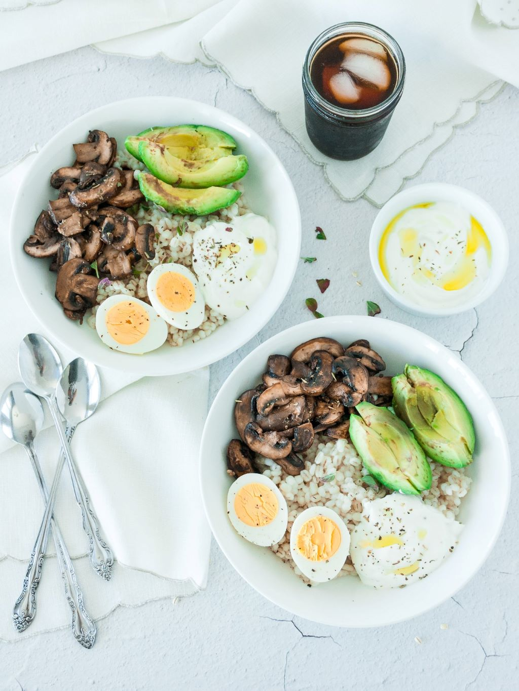 Savory Barley Breakfast Bowl